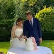 Taart aansnijden bruiloft Marcha