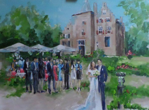 Live Painting boeken bruiloft