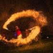 Feuerschwert Feuereffekt Feuershow von einem Feuerkünstler