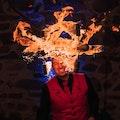 Kopf brennt bei diesem Feuerspieler aus Leipzig