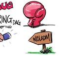 Cartoonist bedrijfsfeest