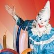 Clown act boeken kinderfeest ()
