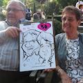 karikaturist huren bruiloftsfeest