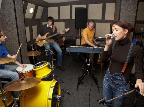 bandje in studio