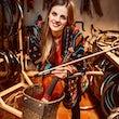 Justina Auskelyte Violinist on a Bike (©H