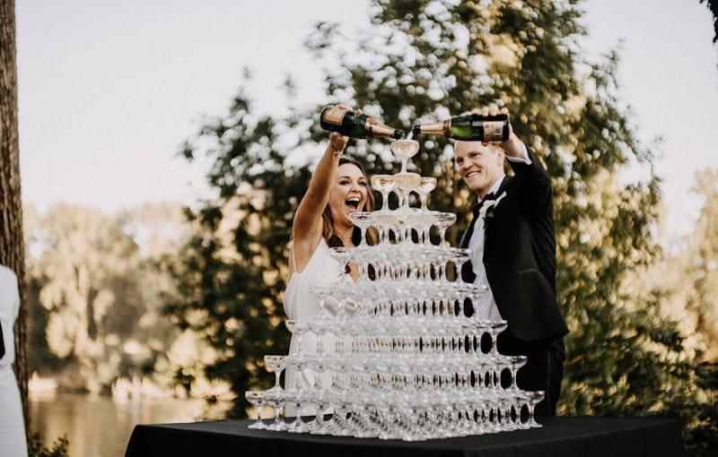 Champagne toren
