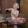 Champagne glas hostesse