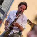 Saxofonist boeken event