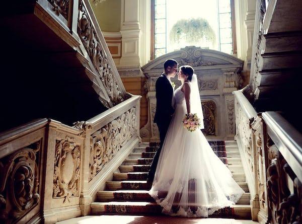 bruid bruidegom trap ()