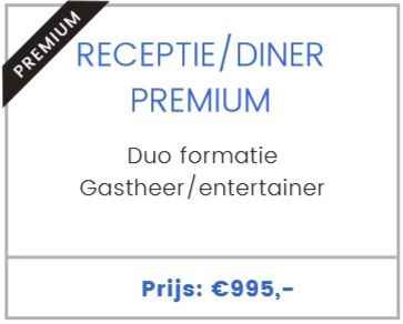 Receptie/diner. Premium