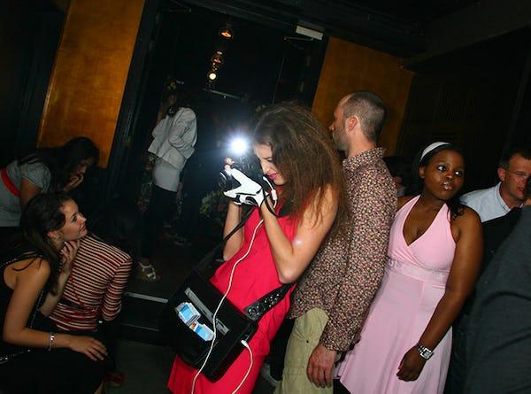 interactieve fotograaf hostesse