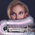 Box sax player Sarah