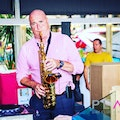 Saxophonist James for hire